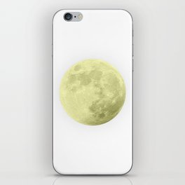 CANARY YELLOW MOON iPhone Skin