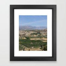 Crete Landscape Framed Art Print