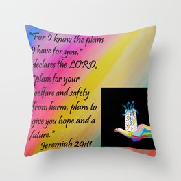 PLANS FOR HOPE AND A FUTURE Throw Pillow