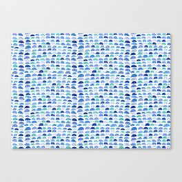 Blue scalloped pattern Canvas Print