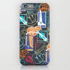 Space Badges Dark iPhone 6s Slim Case