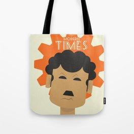 Charlie Chaplin, Modern Times, minimal movie poster, classic film, Charlot, Hollywood Tote Bag
