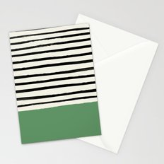 Moss Green x Stripes Stationery Cards