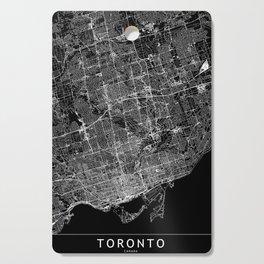 Toronto Black Map Cutting Board