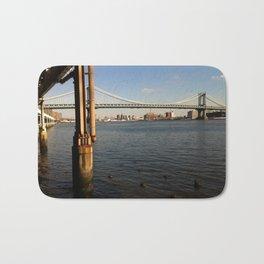 NYC East River | Manhattan Bridge Bath Mat