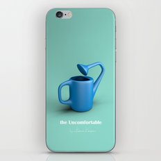 The Uncomfortable Watering can in mint coloured background iPhone Skin