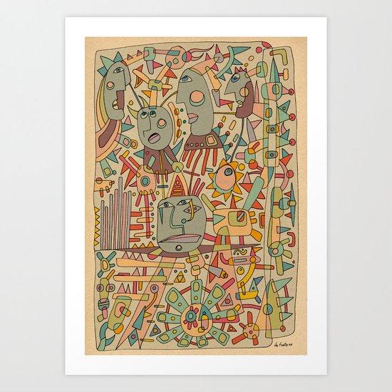 - schematic - Art Print