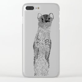 Weasel illustration Clear iPhone Case