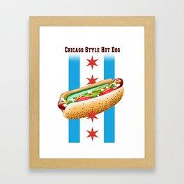 Chicago Style Hot Dog Framed Art Print