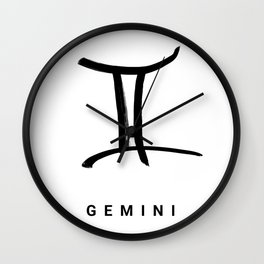 KIROVAIR ASTROLOGICAL SIGNS GEMINI #astrology #kirovair #symbol #minimalism #horoscope #zwilling #ho Wall Clock