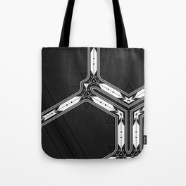 Abstract  Black and White Multi Pattern Tote Bag
