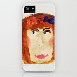unknown portrait iPhone Case