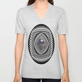 """""""Beez Lee Art : Foggy Circle Point of View"""" Unisex V-Neck"""