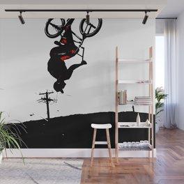 Daring Back-Flip - Freestyle BMX Bikers Wall Mural