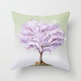 Sweet Spring Slumber Throw Pillow