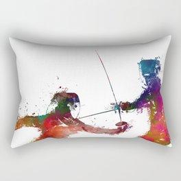 Fencing sport art #fencing Rectangular Pillow