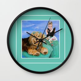 Breakfast with Audrey Wall Clock