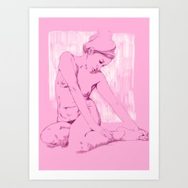 Chicas Rosadas Art Print