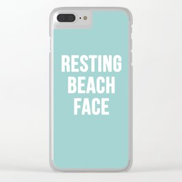 Resting Beach Face Clear iPhone Case