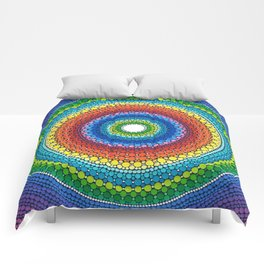 Happy Rainbow Mandala Comforters