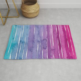 Ombre Watercolor - Turquoise & Magenta Rug