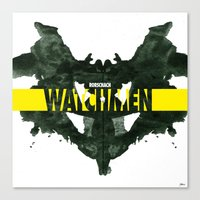 watchmen Canvas Prints featuring Watchmen 2.0 - Rorschach by Fabio Castro
