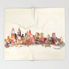 philadelphia pennsylvania skyline Throw Blanket