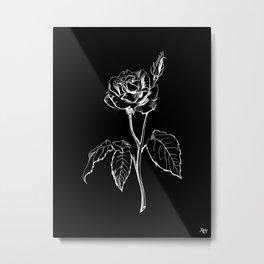 Black Rose Metal Print
