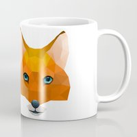 mr fox Mugs featuring Mr Fox by MrWhite