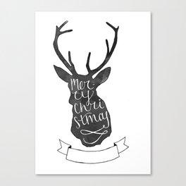 Merry Christmas Deer (3) Canvas Print