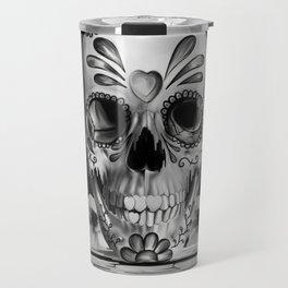 Pulled sugar, day of the dead skull Travel Mug