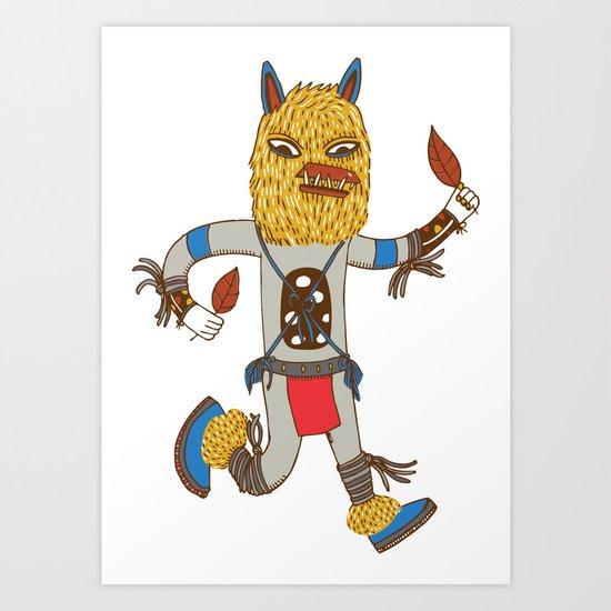 Kachina Fox Art Print