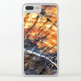 Macro Tree Stump Ring Arc Clear iPhone Case
