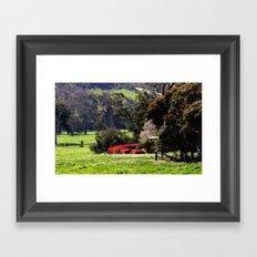 Farmhouse in the Valley Framed Art Print