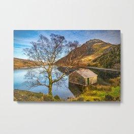 Boat House at Ogwen Lake Snowdonia Metal Print