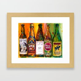 Heady Topper, The Lost Abbey, Lunch, PlinytheEdler, Cantillion Combo Fancy Beer Man Cave Framed Art Print