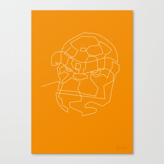 One Line The Thing Canvas Print