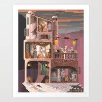 Scene #18: 'The painter' Art Print
