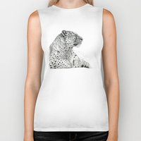 persian Biker Tanks featuring Persian Leopard G2011-025 by S-Schukina