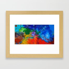 Orchestra, colorful organic abstract, NYC artist Framed Art Print