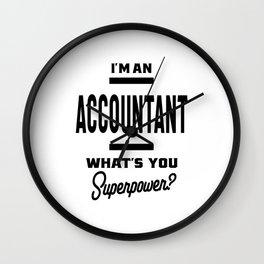 Accountant Work Job Title Gift Wall Clock