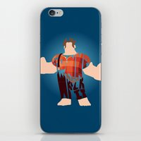 wreck it ralph iPhone & iPod Skins featuring I'm Gonna Wreck It Typography by Rebecca McGoran
