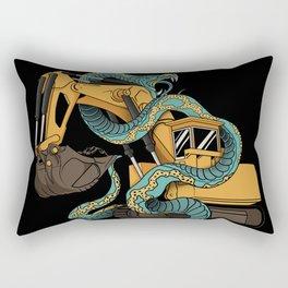 Excavator vs Anaconda Rectangular Pillow