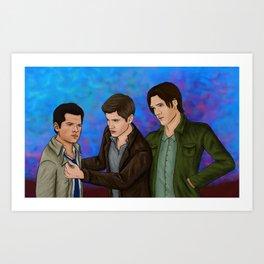 Supernatural Trio Art Print