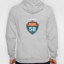 Vintage Made In 58 1958 Birthday Gift Hoody