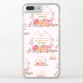 All I want is love Clear iPhone Case