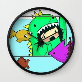 Rawr went Monstafishing... muh muh muh MONSTA FISH! Wall Clock