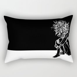 Blossom in the Void Rectangular Pillow