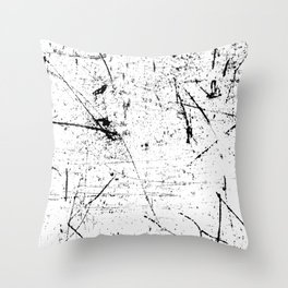 Scattered mind Throw Pillow