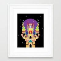 castle Framed Art Prints featuring castle  by crayon dreamer